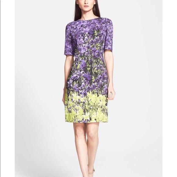 de0f1b91baf3 Escada Floral Print Jersey Sheath Dress